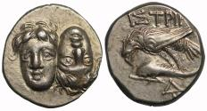 Ancient Coins - Moesia, Istros, Silver Drachm