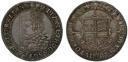 World Coins - Elizabeth I Halfcrown mint mark 1