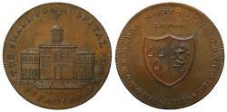 World Coins - Skidmore London Building Series Penny Smallpox Hospital St Pancras