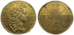 World Coins - William III 1701 Two-Guineas, fine work issue