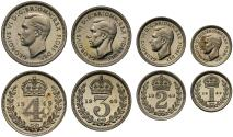 World Coins - George VI 1949 Maundy Set, first year Emperor of India title no longer appears