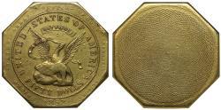 "Us Coins - USA, California 1852 ""887"" US Assay Office ""slug"" 50-Dollars AU DETAILS"