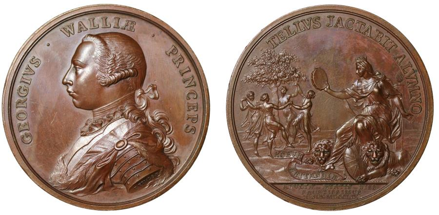 World Coins - Majority of George, Prince of Wales, 1759.