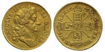 World Coins - Charles II 1673 Half-Guinea