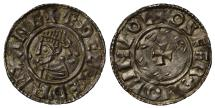 World Coins - Aethelred II Penny Lincoln, last small cross type