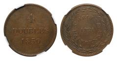 World Coins - Guernsey/St. Helena Copper Mule AU53