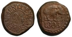 World Coins - Ceylon, George III 1803 copper 24-Stivers.