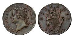 World Coins - Ireland, George II 1760 Farthing