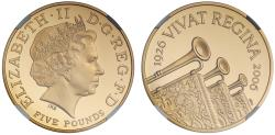 World Coins - Elizabeth II 2006 Five-Pounds - Queen's 80th Birthday - PF69 ULTRA CAMEO