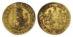 World Coins - Charles I 1644 Oxford mint Triple Unite small module, less than ten known