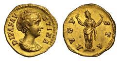 Ancient Coins - Faustina Snr (wife of Antoninus Pius), Gold Aureus, Rome mint