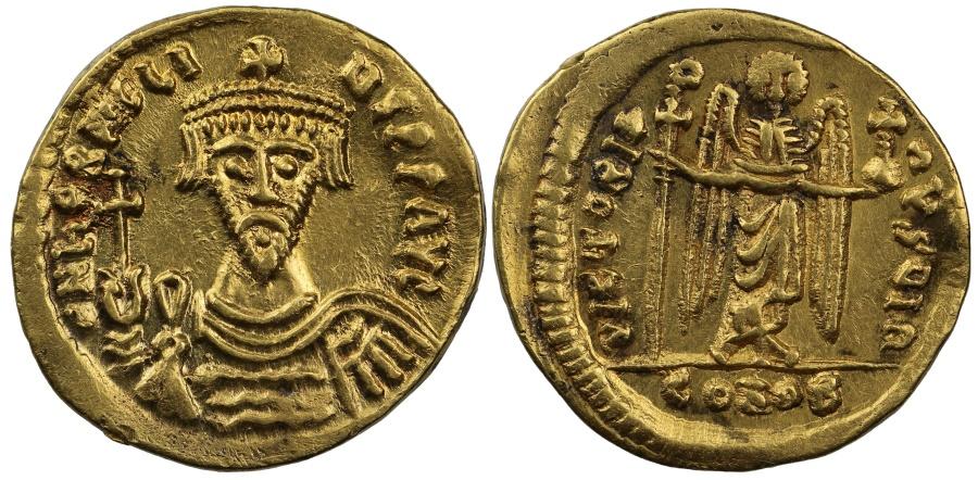 Ancient Coins - Heraclius, Gold Solidus