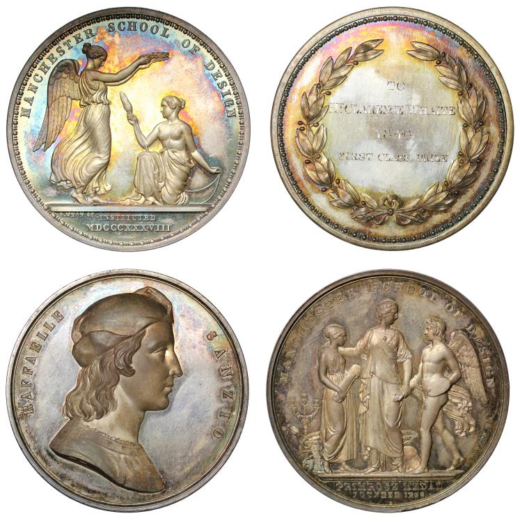 World Coins - A pair of Manchester School of Design Prize Medals.
