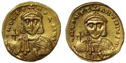 Ancient Coins - Leo III & Constantine V, Gold Solidus.