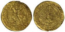 World Coins - Elizabeth I Angel rare variety E over Rose and Rose over E on rev. mm crosslet