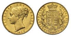 World Coins - Victoria 1843/2 Sovereign, 3 struck over 2, rare overdate R3