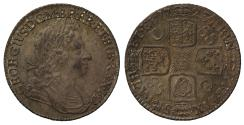 World Coins - George I 1723 SSC Shilling C over SS