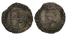 World Coins - Ireland, Elizabeth I Sixpence, third base issue