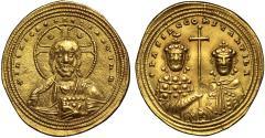 Basil II and Constantine VIII gold Histamenon, Constantinople