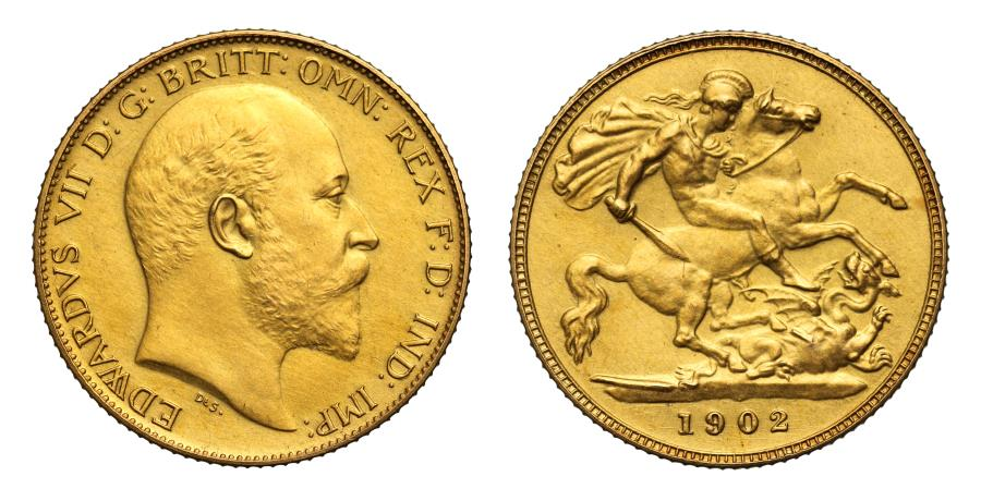 World Coins - Edward VII 1902 matt proof Half-Sovereign