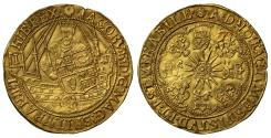 World Coins - James I second coinage gold Spur Ryal