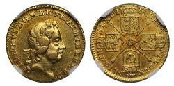 Ancient Coins - George I 1718 Quarter-Guinea AU58