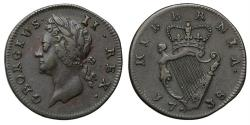 World Coins - Ireland, George II 1738 copper Farthing
