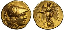 Ancient Coins - Macedon, Alexander III the Great, gold Stater, posthumous issue, Abydos