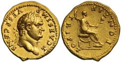 Ancient Coins - Titus, Gold Aureus, Mint of Rome
