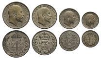 World Coins - Edward VII 1902 Maundy Set