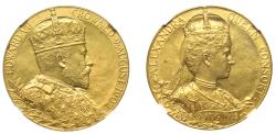 World Coins - Coronation of Edward VII, 1902.