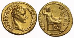 Ancient Coins - Tiberius, Gold Aureus