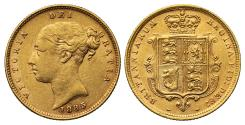 World Coins - Victoria 1885 Half-Sovereign, fifth young head