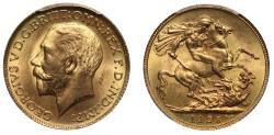George V 1925 Sovereign MS66