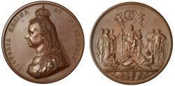 World Coins - Golden Jubilee, 1887, Bronze Medal.