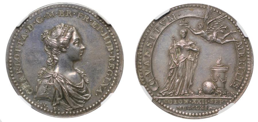 World Coins - Coronation of Charlotte, 1761.
