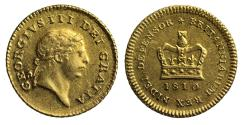 Ancient Coins - George III 1810 Third Guinea