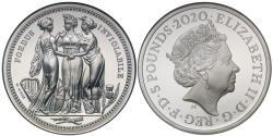 World Coins - Elizabeth II 2020 silver PF69 UCAM 2oz Three Graces