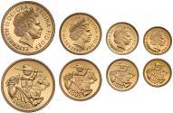 World Coins - Elizabeth II 2005 4-coin proof Set
