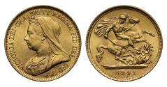 World Coins - Victoria 1893 Half-Sovereign