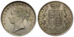 World Coins - Victoria 1887 Halfcrown