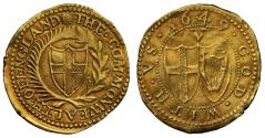 World Coins - Commonwealth 1649 gold Crown, first dated gold crown