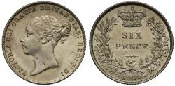 World Coins - Victoria 1858 Sixpence