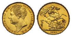 World Coins - George IV 1823 gold Two-Pounds