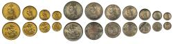 World Coins - Victoria 1887 currency Set of 11