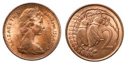 World Coins - Elizabeth II Mule 2-Cents Bahamas & NZ
