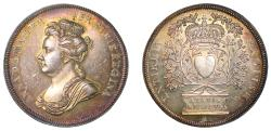 World Coins - Accession of Queen Anne, 1702.