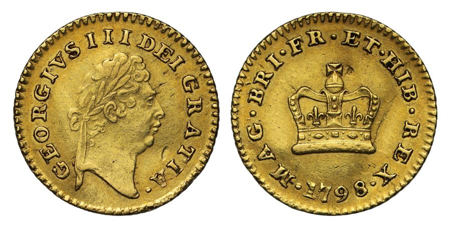 World Coins - George III 1798 Third Guinea, first year for denomination