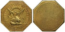 """Us Coins - USA, California 1852 """"900"""" US Assay Office """"slug"""" 50-Dollars AU55"""
