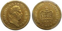 World Coins - George III 1802 Third-Guinea AU55